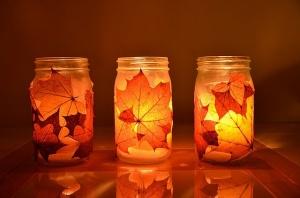 Leaf Candle Jars